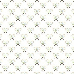 Preppy Racquet White