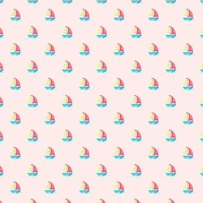 Preppy Sailboat Coral