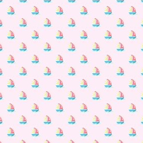 Preppy Sailboat Pink