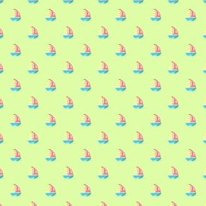 Preppy Sailboat Pistachio