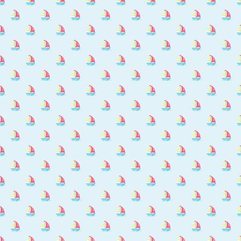 Preppy Sailboat sky fabric by littlerhodydesign on Spoonflower - custom fabric