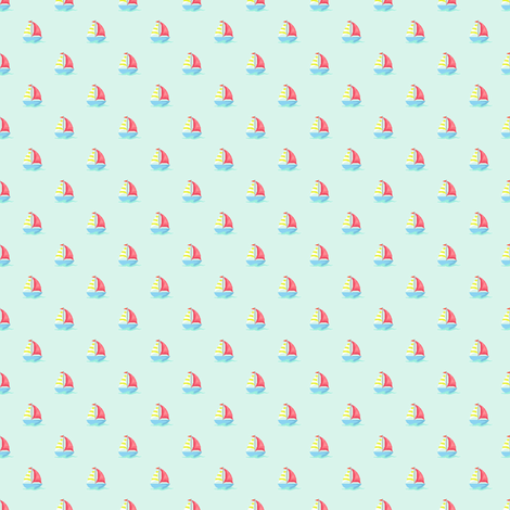 Preppy Sailboat Spa fabric by littlerhodydesign on Spoonflower - custom fabric