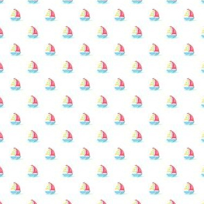 Preppy Sailboat White