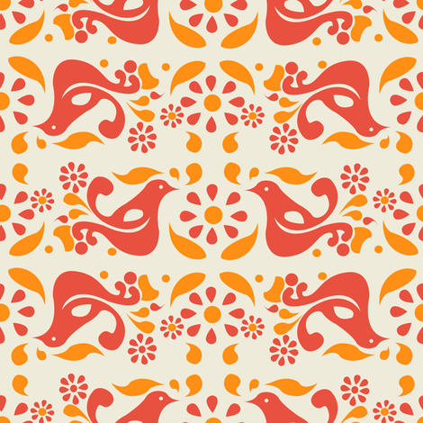 Peace, Love, and Pyrex fabric by halloweenhomemaker on Spoonflower - custom fabric