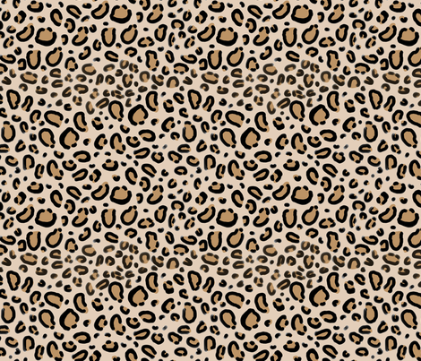 Leopard Print Fabric leopard print - tan natural animal cheetah safari print fabric