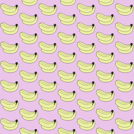 Pink banana print fabric by carnivale_collection on Spoonflower - custom fabric