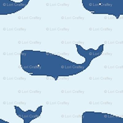Preppy Whale Sky Blue
