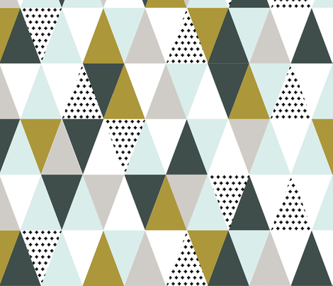 Triangle cheater quilt- boy fabric by cassiekulp@gmail_com on Spoonflower - custom fabric