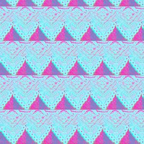 Blue Lace Stripes