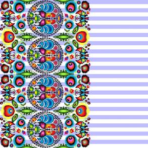 Wycinanka_003_Border_Print_Blue_Stripes