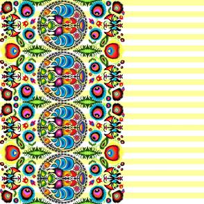 Wycinanka_003_Border_Print_Yellow_Stripes