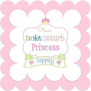 do not disturb princess napping quilt