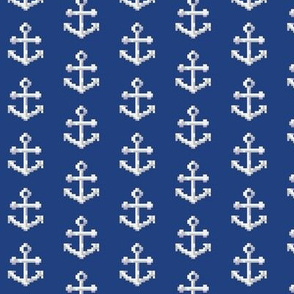 White on Navy Pixel Anchor