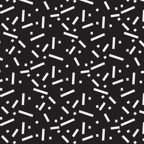 Tiny Sticks-white on black