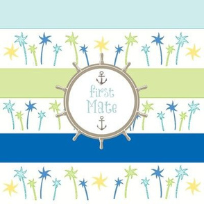 Anchors Lagoon Stripes-First Mate