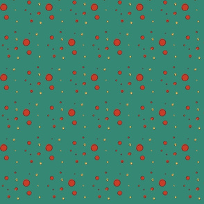 Dark Teal Dots