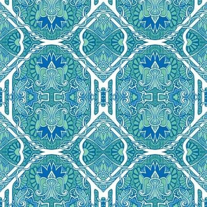 Electric Daisy Tiles (blue)