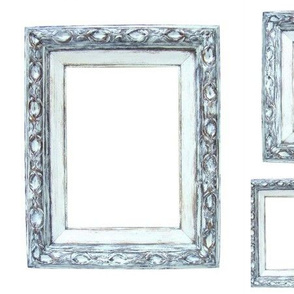 Suga Lane Distressed French Frames #1 White