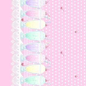 Pastel Cute Milkshake- Pink