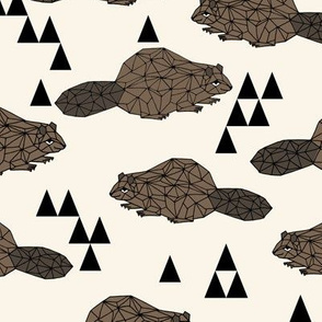 Geo Beaver - Cream by Andrea Lauren