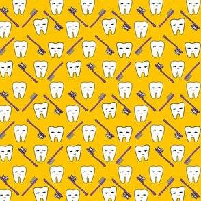 Happy Teeth - Gold and Purple by Andrea Lauren (Mini) by Andrea Lauren