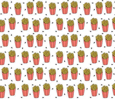 French Fries - Bittersweet by Andrea Lauren  fabric by andrea_lauren on Spoonflower - custom fabric