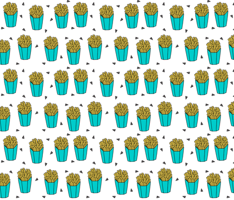 french fries // novelty fast food junk food fried food  fabric by andrea_lauren on Spoonflower - custom fabric