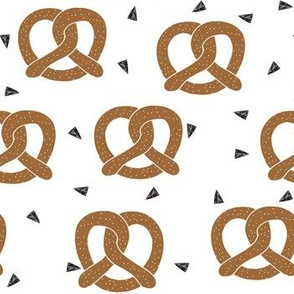 pretzel fabric // brown food bread foods kitchen kids summer funny