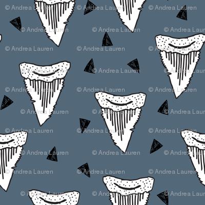 shark tooth // sharks shark teeth shark fabric boys room shark week shark