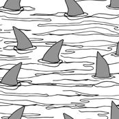 shark fin // sharks shark shark fabric white background shark spoonflower fabric shark fabric andrea lauren