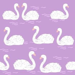 swans // swan swans purple lilac lavender girls sweet birds elegant beautiful pond lilies