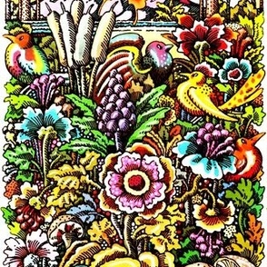 tropical tropics rainforests flowers mushrooms cattails palm trees mountains birds of paradise colorful rainbow