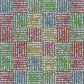 Rustic Basket Weave - multi-color