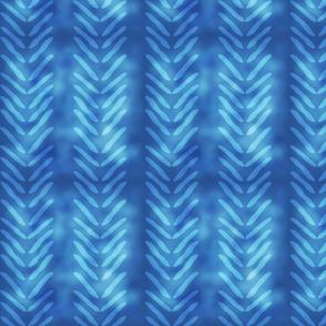 Blue Tie Dye Herringbone