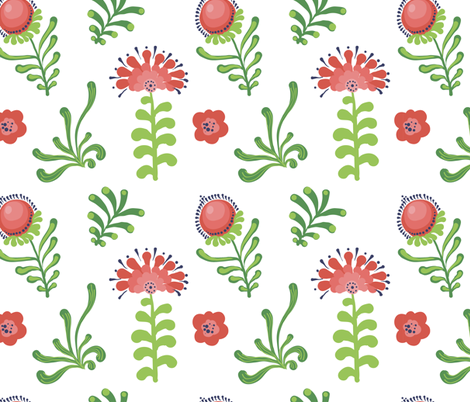 flofers130 fabric by olgaberlet on Spoonflower - custom fabric