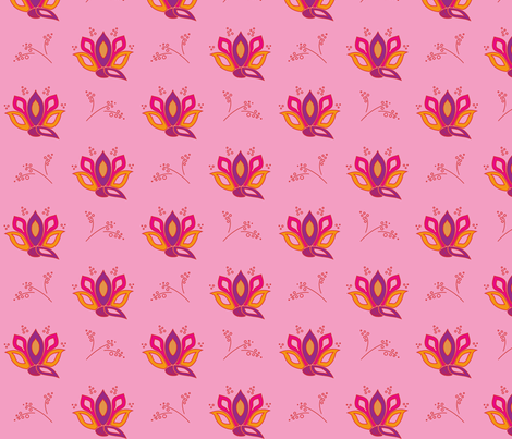 peacockflower_big-_pink fabric by wextverk on Spoonflower - custom fabric