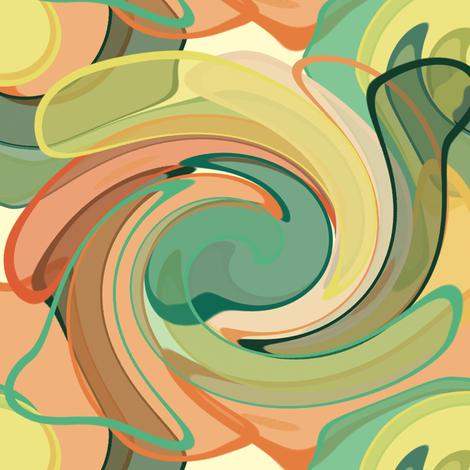 SUNSET__STRIP_WAVES fabric by bluevelvet on Spoonflower - custom fabric
