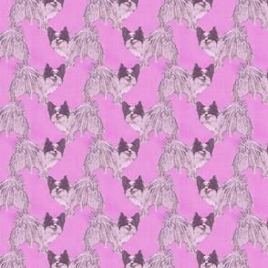 Standing Papillon - pink