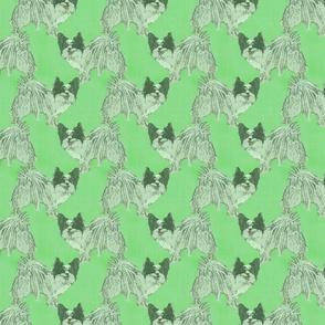 Standing Papillon - green