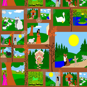 fairy tale cheater quilt