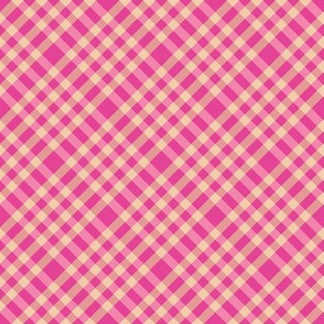 Echo Canyon Plaid in Cactus Flower Pink and Agua de Melon