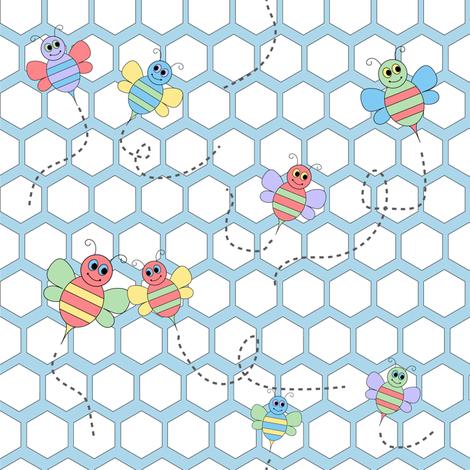 Bee Friends fabric by julia_diane on Spoonflower - custom fabric