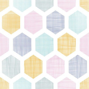 Textured Colorful Hexagons