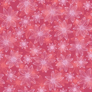 lifework flowers - coral and pink on berry