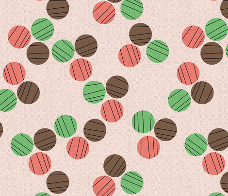 Circles pinkish fabric by edward_elementary on Spoonflower - custom fabric