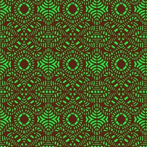 Forest Deep Canopy Green Brown