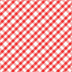 A tiny stepped gingham
