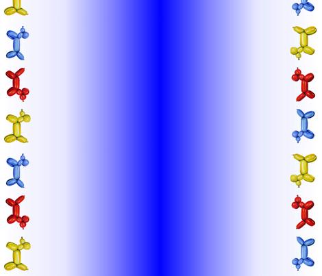 Balloon Border Blue fabric by interrobangart on Spoonflower - custom fabric