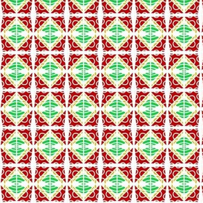 Holiday Tablecloth Red Green White