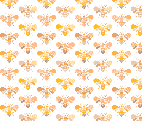 Bees fabric by heleenvanbuul on Spoonflower - custom fabric